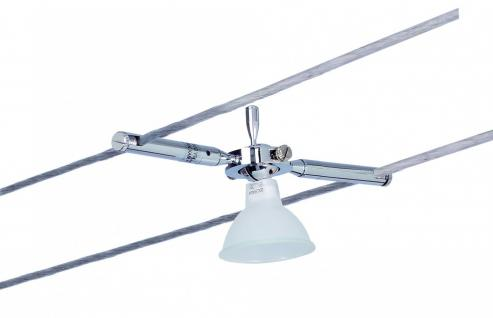 974.73 Paulmann Seil Zubehör Wire System Light&Easy Spot Togo 1x35W GU5, 3 Chrom 12V Metall