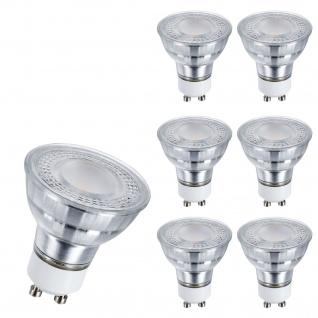 6er Set I 6403 LED Leuchtmittel GU10 4, 5W 3000k 100° Abstrahlweinkel Raumlicht 360lm warm weiss