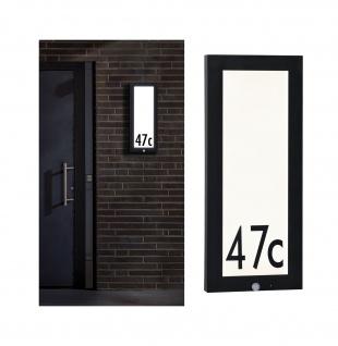 Paulmann Aussenleuchte 230V Panel 20*60cm Hausnummer IP44 4W 800lm Bewegungsmelder Anthrazit