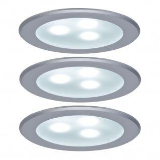 Paulmann 983.51 Möbel Einbauleuchte Set high power LED 3x3W 9VA 230V/350mA 76mm Chrom matt