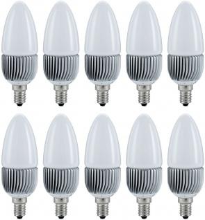 10er Set Paulmann LED Kerze 1x3W E14 Warmweiß ca. 20W Licht