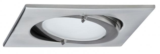 935.32 Paulmann Möbelleuchten Möbel EBL Set IP44 Quadro schwenkbar 3x20W 60VA 230/12V G4 Eisen gebürstet/Alu