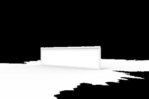 LED Panel 36W 3000K Neutralweiss 3850Lumen 120x30cm erstzt 390W Licht inkl Aufbaurahmen, Aufputz Aufbauleuchten High Lumen