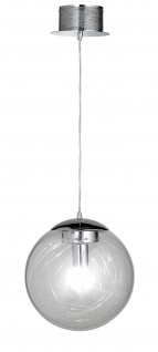 Action 668302010300 Pendelleuchte Mystic LED Deckenleuchte 1 x E27 + 1 x 3 W LED Chrom