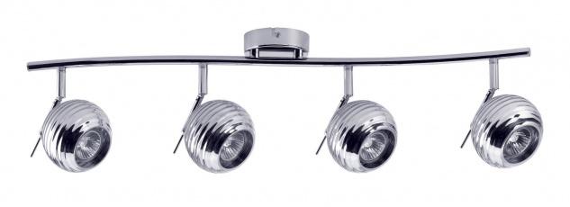 Paulmann 602.83 Spotlights Sigma 4x40W GU10 Chrom 230V Metall/Glas