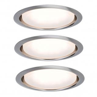 Paulmann 983.41 Möbel Einbauleuchte Set rund Energiesparlampe Disc 3x9W 230V GX53 96mm Eisen gebürstet/Metall