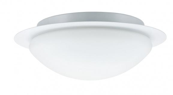 Paulmann 703.47 WallCeiling Vega IP44 max.60W E27 320mm Weiß/Opal 230V Metall/Glas