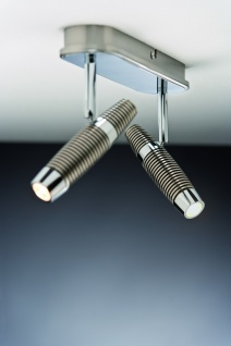 601.55 Paulmann Deckenleuchten Spotlight Channel LED Balken 2x10W Nickel gebürstet/Chrom 230V Metall