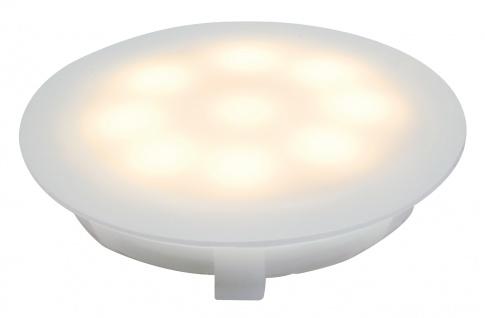 Paulmann 937.00 Special Einbauleuchte UpDownlight LED 3000K 1W 12V 45mm Satin/Kunststoff