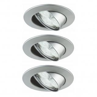 Paulmann Premium Einbauleuchte Set Natural Wellness LED 3x3W 30VA 230V 83mm Chrom matt/Alu Zink