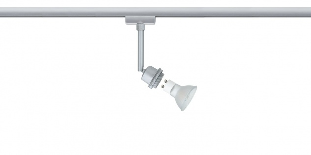 Paulmann URail Schienensystem DecoSystems LED Spot 1x3, 5W GZ10 230V Chrom matt Metall