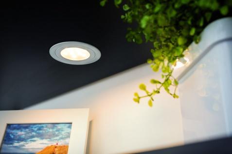 Paulmann Möbel Einbauleuchte Set Circuit LED rund 3x5, 6W 17, 5VA 230V/350mA 85mm Weiß matt/Metall - Vorschau 4