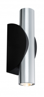 Paulmann ABL Set 2Flame LED 2x3, 2W 230V IP44 rund Schwarz/Alu gebürstest Alu