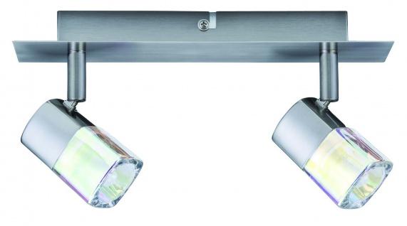 660.30 Paulmann Deckenleuchten Spotlights Hoya Balken 2x42W G9 Nickel satiniert/Glas dichroic 230V Metall/Glas