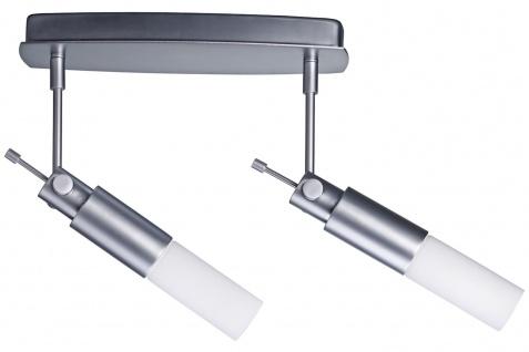 664.42 Paulmann Deckenleuchten Spotlights Pharus Balken 2x9W E14 Decopipe Chrom matt/Opal 230V Kunststoff