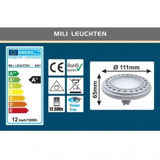 MILI Qpar111 LED Leuchtmittel dimmbar 12W GU10 3000K Warmweiss 230V 900lm Silber 120° Abstrahlwinkel Raumlicht dimmbar - ersetzt 90W Halogen - Vorschau 3