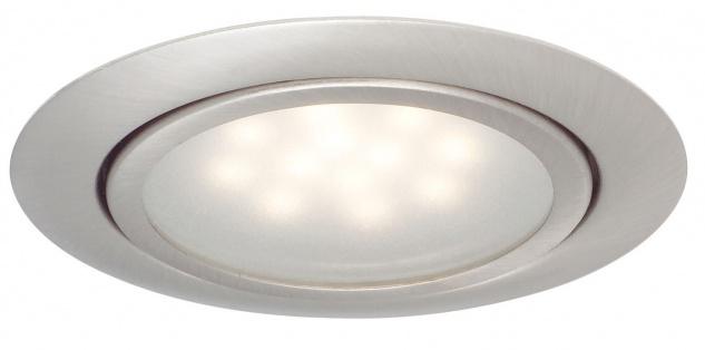 Paulmann 998.12 Möbel Einbauleuchte Set LED 3x1W 12VA 230/12V 65mm Eisen gebürstet/Metall