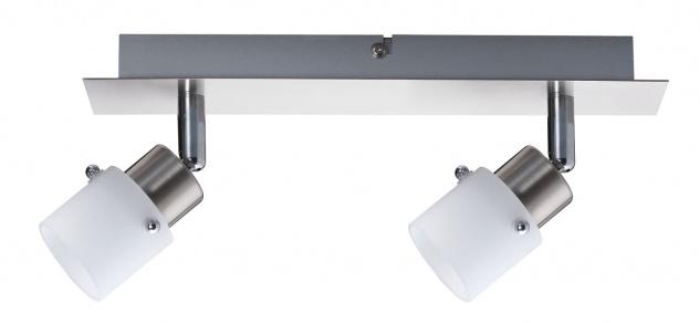 Nice Price Nice Price Spotlights Balken 2x40W G9 Eisen gebürstet/Opal 230V Metall/Glas