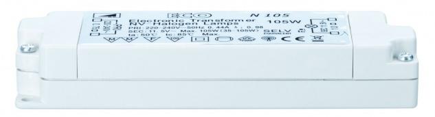 TIP 977.02 ECO VDE Elektroniktrafo 35-105W 230/12V 105VA Weiß