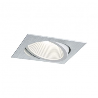 Premium EBL Set Helia 998.87 eckig schwenkbar LED 4000K 13W 230V/1, 4A 115x115mm Alu gebürstet weiß matt Al
