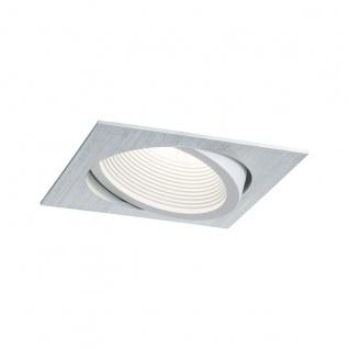 Premium EBL Set Helia eckig schwenkbar LED 4000K 13W 230V/1, 4A 115x115mm Alu gebürstet weiß matt Al 998.87