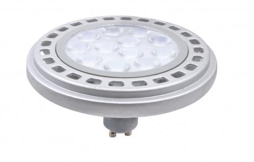 MILI Qpar111 LED Leuchtmittel 12W GU10 3000K Warmweiss 230V 900lm Chrom matt - ersetzt 90W Halogen ES111 - 45° Astrahlwinkel