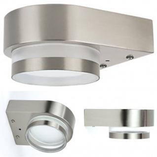 7W LED Aussenleuchte GX53 Sockel inkl. Leuchtmittel Aussenlampe 3000K 500LumenAussenleuchte Aussenlampe Wandleuchte Edelstahl Lampe GX53