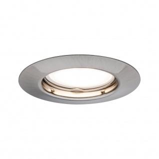 Paulmann Einbauleuchte Set rund starr LED 3x4, 5W 230V Eisen gebürstet/Metall
