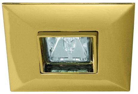 Paulmann Premium Einbauleuchte schwenkbar Quadro max.35W 12V GU5, 3 90mm Gold/Alu Zink