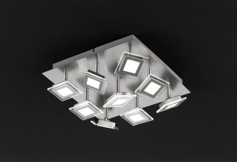 Wofi 9197.09.64.0000 Deckenleuchte Cholet 9 flg. LED 9 x 5 W 3.000 K 2.700 lm Nickel-matt - Vorschau 3