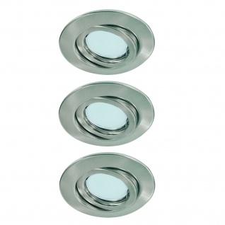 Paulmann Quality Einbauleuchte Set schwenkbar Energiesparlampe 3x11W 230V GU10 51mm Eisen gebürstet