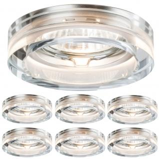 6er Set LED Einbauleuchten Kristall 6x 5W GU10 LEDs Neutral weiss 4000K 380 Lumen 110 Grad