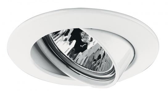 Paulmann 179.53 Premium Einbauleuchte schwenkbar max. 50W 12V GU5, 3 51mm Weiß/Alu Zink