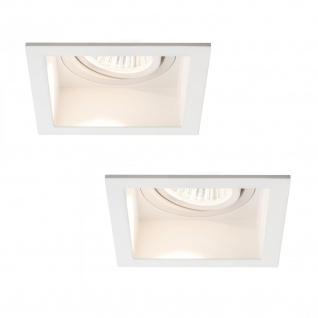 Paulmann Premium Einbauleuchte Set Daz schwenkbar eckig LED 2x9, 5W 18VA 230V/350mA 153mm Weiß m/Alu Zink