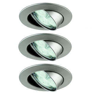 Paulmann Premium Einbauleuchte Set Natural Wellness LED 3x3W 30VA 230V 83mm Chrom matt/Alu Zink