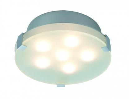 Paulmann 702.79 WallCeiling Xeta dimmbar IR Fernbedienung LED 15W 200mm Chrom matt 230V Metall/Glas