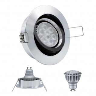 LED Einbauleuchte 96528 Alu GU10 8W 2700K 230V Dimmbar Komplett Set