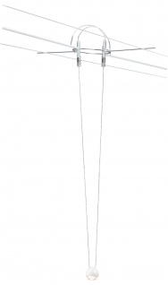 Paulmann 941.03 AirLED Seilsystem L&E Pendel Ball 5 Watt 230V/700mA, Weiß, Metall