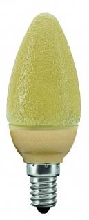 Paulmann LED Kerze 1, 4W E14 Eiskristall Bernstein
