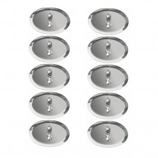 Paulmann Star Einbauleuchte Set rund 10x10W 105VA 230/12V G4 63mm Spiegel Silber/Metall/Glas