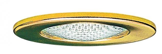 Paulmann Möbel Einbauleuchte Schutzglas strukturiert max.20W 12V G4 66mm Gold/Stahlblech/Glas
