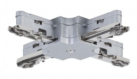 Paulmann URail Schienensystem Light&Easy X-Verbinder 125mm max. 1000W Chrom matt 230V Metall