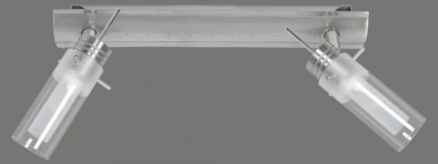 663.31 Paulmann Deckenleuchten Spotlights Alisa Balken 2x50W GZ10 Chrom matt/Transparent/Satin 230V Metall/Glas