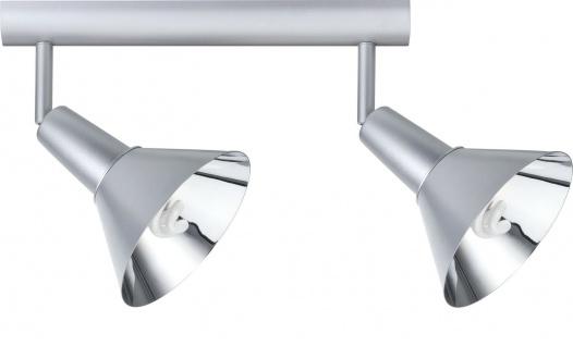 Paulmann Spotlights Energy Energiesparlampe Balken 2x9W E14 Chrom matt 230V Metall