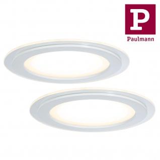 Paulmann 927.05 Premium Einbauleuchte Set DecoDot rund LED 2x7, 5W 18VA 160mm Klar/Weiß Glas/Metall