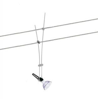 LED Seilspot Seilsystem 12V 7W Dimmbar 621Lumen Warm weiss 36 Grad Abstrahlwinkel GU5, 3 Philips Leuchtmittel entspricht 50W - Vorschau