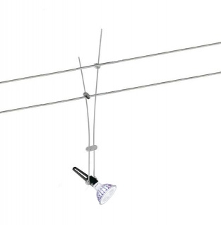 LED Seilspot Seilsystem 12V 7W Dimmbar 621Lumen Warm weiss entspricht 50W 36 Grad Abstrahlwinkel GU5, 3 Philips Leuchtmittel