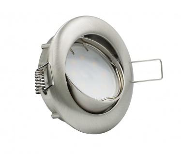 LED Einbauleuchte Eisen Gebürstet 5W 3000K 230V Modul flache Einbautiefe 35mm - Vorschau 2