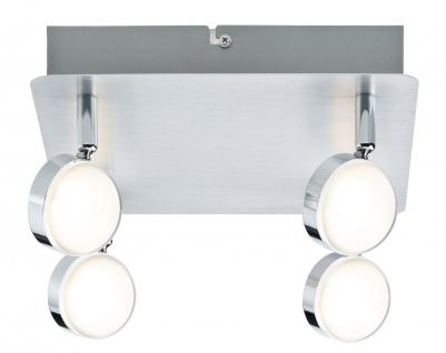 Paulmann Spotlight Hemisphere 4x4, 5W Alu gebürstet/Chrom 230V Metall/Acryl
