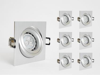 Dimmbare LED Einbauleuchten Set 6x4W GU10 Einbaustrahler inkl. GU10 Sockel Warm Weiss 3000K